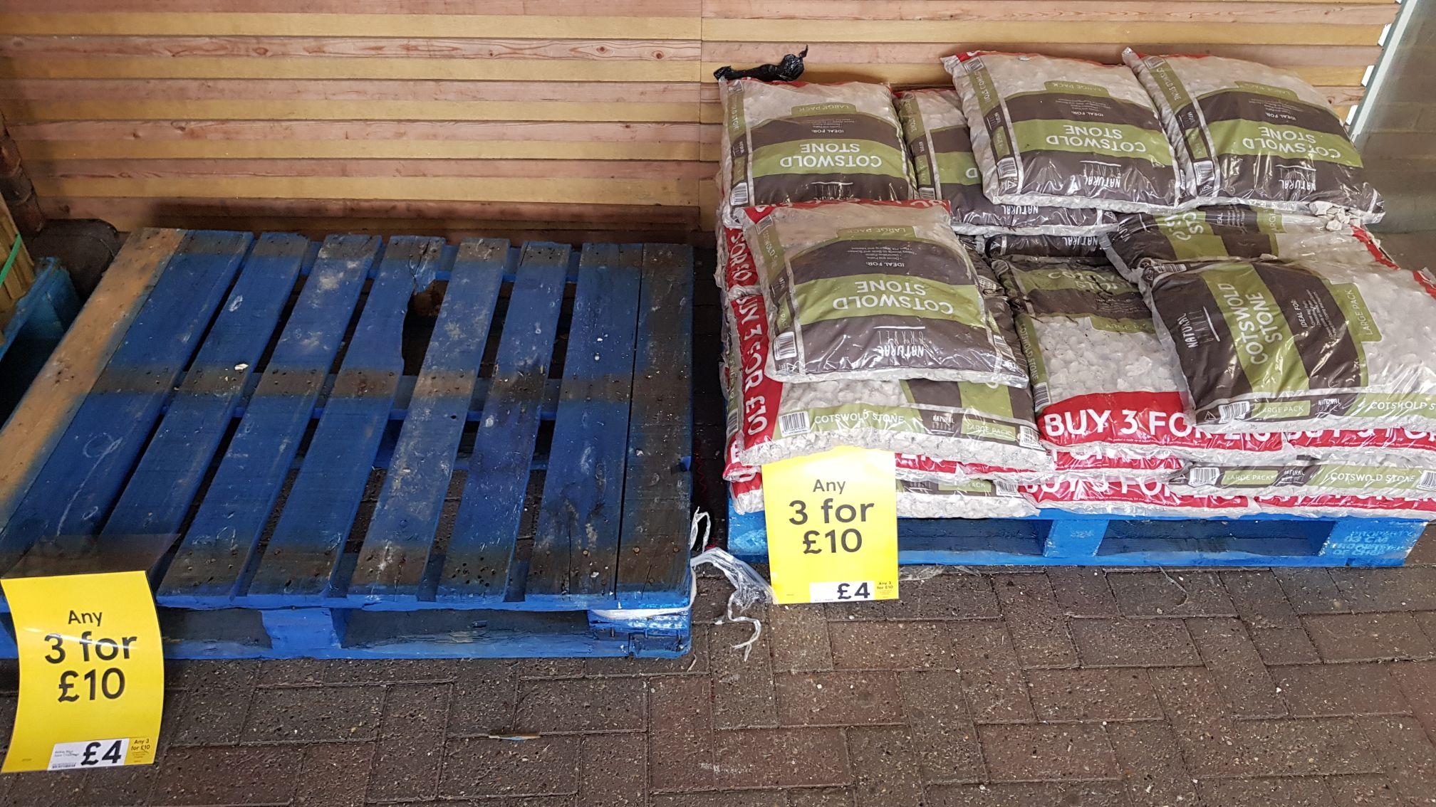 Tesco blue slate chippings 3 bags for £10 Instore