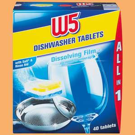 Lidl Super Weekend 13/14 July W5  40 Dishwasher Tablets £1.59 were £3.29
