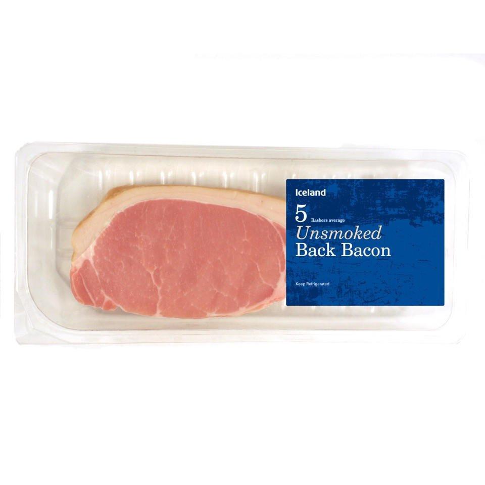 5 Rashers Unsmoked Or Smoked Bacon 89p @ Iceland