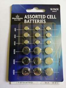 18 Assorted button cell batteries 25p INSTORE @ Morrisons