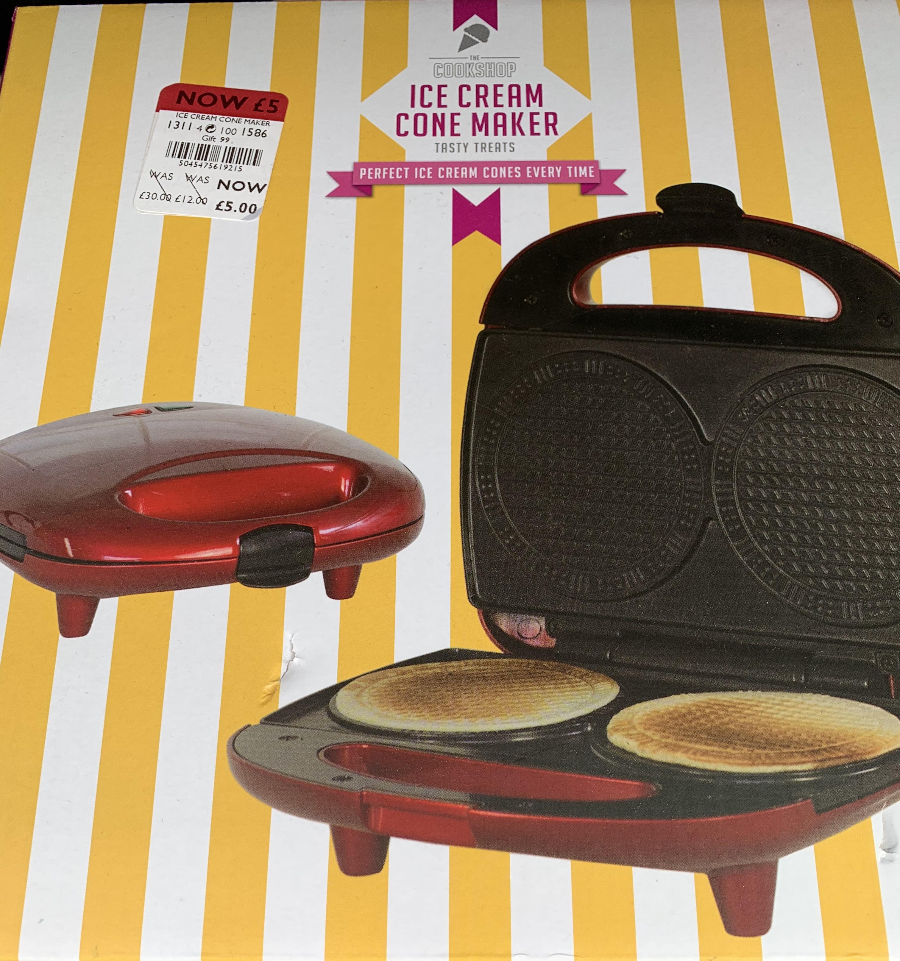 Ice cream cone maker - cookshop machines - £5 Debenhams Instore