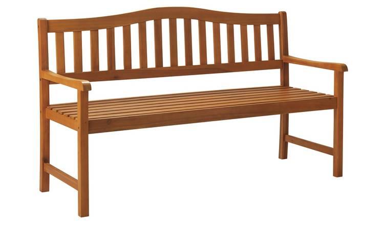 Argos Home Henrietta Wooden 3 Seater Bench, £49.99 at argos