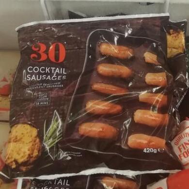 30 frozen cocktail sausages 420g - 25p instore @ Heron Foods