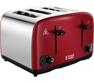 RUSSELL HOBBS Cavendish 24092 4-Slice Toaster with 3 YEAR warranty - £27 @ Currys