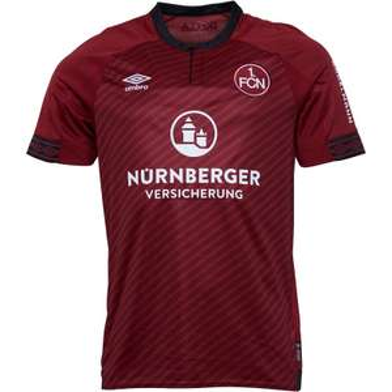 Umbro Mens 1 FCN FC Nurnberg Home Shirt Burgundy/Black @ £14.99 + £4.99 delivery at MandMDirect