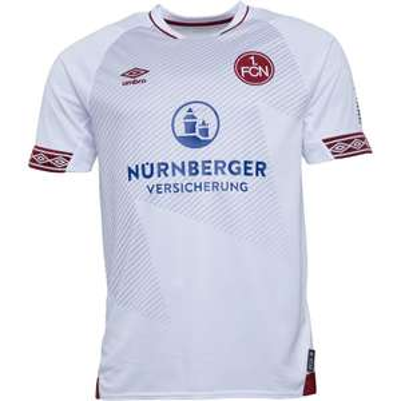 Umbro Mens 1 FCN FC Nurnberg Away Shirt White/Burgundy @ £14.99 + £4.99 delivery at MandMDirect
