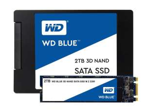 WD Blue 3D NAND Internal SSD (2.5 Inch/M.2) SATA - 2 TB for £199.99 Delivered @ Amazon UK