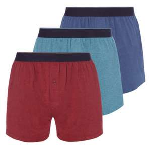 3 Pack Multicoloured Marl Jersey Boxers £5.50 at Sainsburys