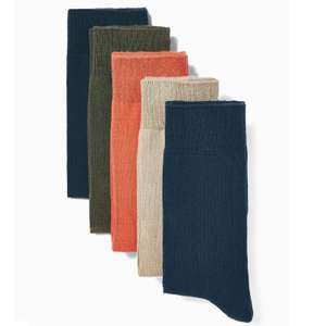 Assorted Colour Socks 5 Pack* £3 at Topman