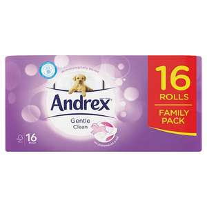 Andrex Gentle Clean 16 Rolls @ Poundland for £5