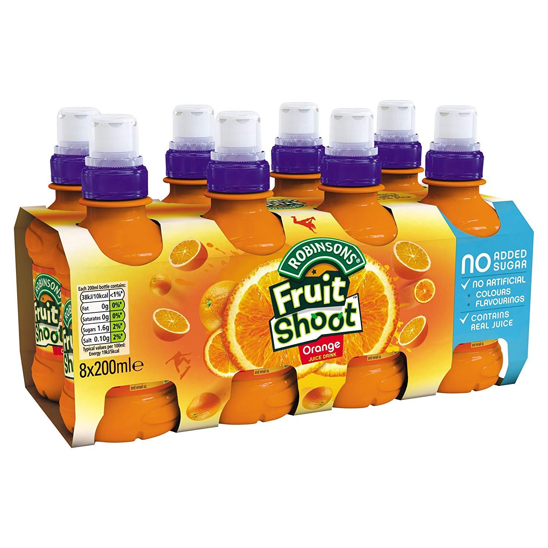 Robinsons Fruit Shoot Pack of 8 x 200ml (Orange/Summer Fruits or Hydro Blackcurrant/Orange & Pineapple) £1.50 at Amazon Pantry (+£3.99 p&p)