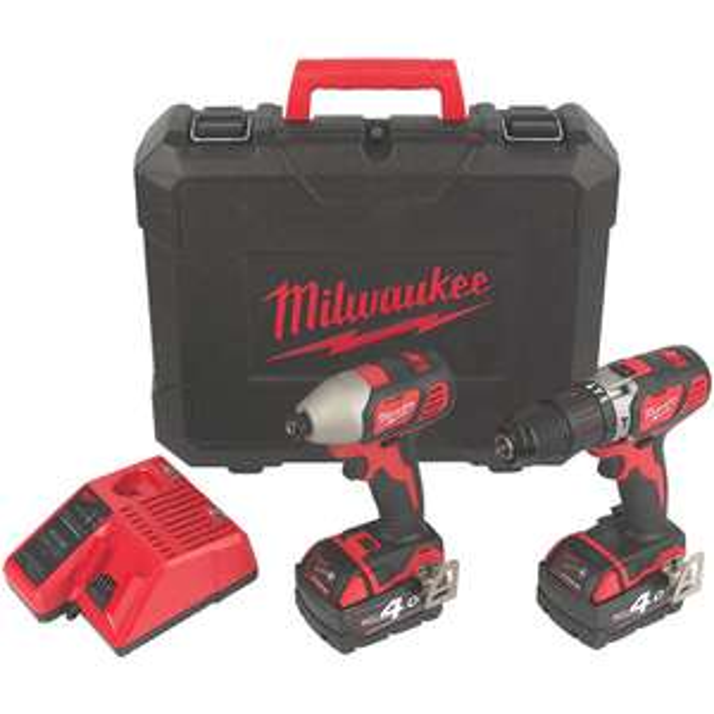Milwaukee M18BPP2AB-402C 18V 4.0Ah Li-Ion RedLithium Cordless Twin Pack £199.99 @ Screwfix