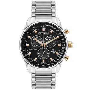 Citizen Eco-Drive Men's Stainless Steel Black Dial Watch, £109.99 at H Samuel