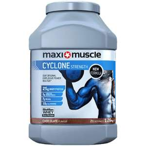 Maxi Muscle 1.26KG Whey Protein ALL FLAVOURS - £11.99 (Prime) £16.48 (Non Prime) @ Amazon