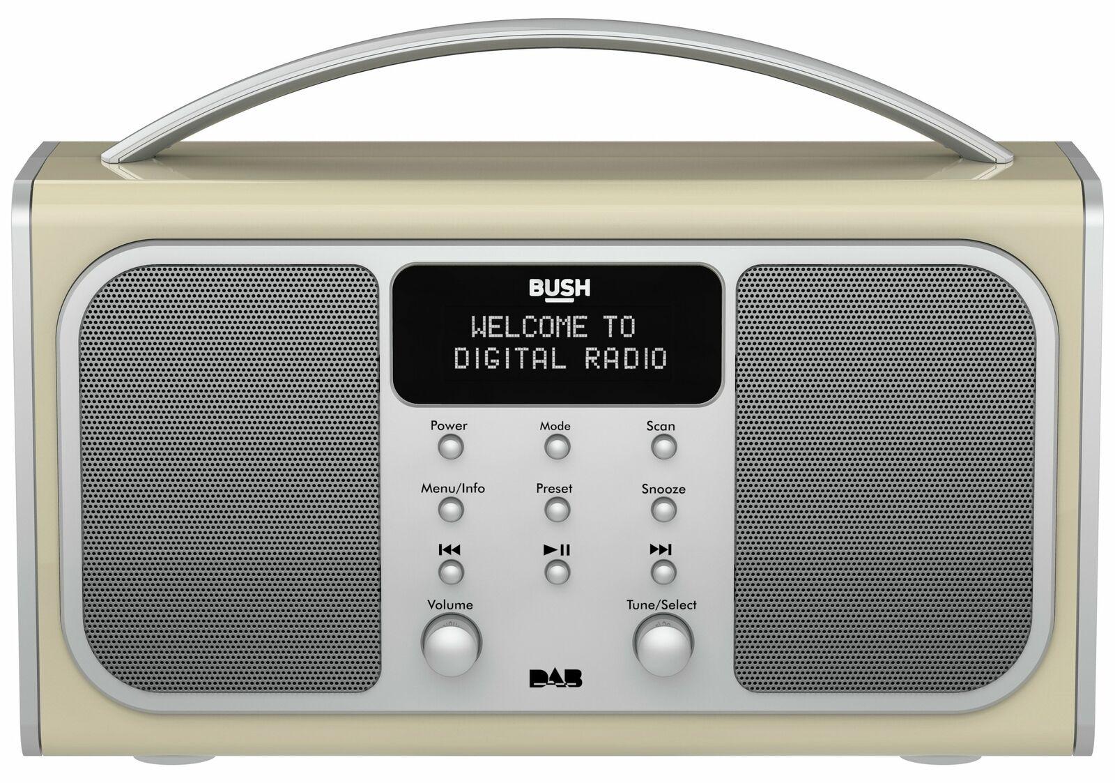 Bush Bluetooth LCD RDS DAB Radio Wireless Speaker Headphone socket - Cream £26.94 Argos on eBay
