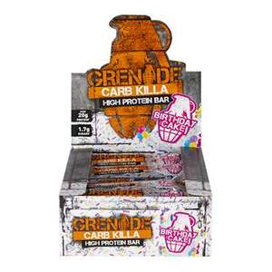 2 boxes of Grenade Carb Killa bars for £28! 2x12 Holland and Barrett