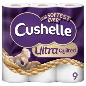 Cushelle Ultra Quilted 3 Ply 9 Rolls at Tesco - £4