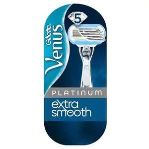 Gillette Venus Extra Smooth Platinum Razor With Refill Blade now £5.98 free click and collect at Superdrug