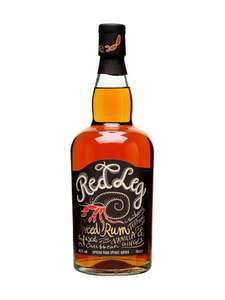 Red Leg Spiced Rum 37.5% abv 70cl £15 in Tesco starting 9th July