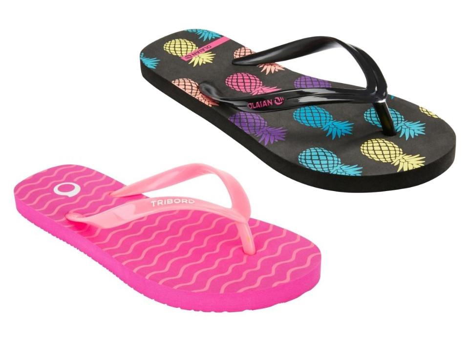 Girls OLAIAN Flip-Flops (Pink / Black) for £1.99 @ Decathlon (Free C&C)