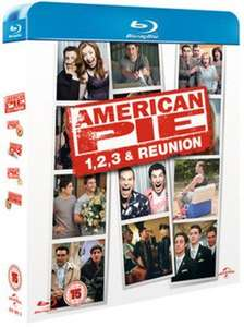 American Pie 1-4 Blu ray used £3.41 delivered with code @ Music Magpie