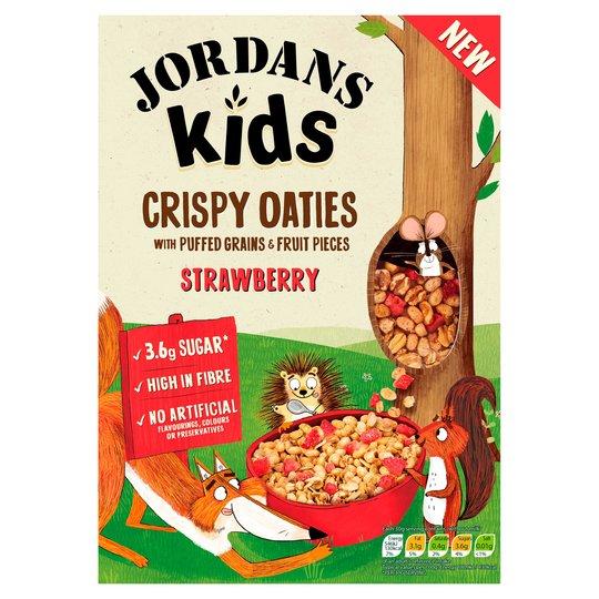 2 x Jordans Grin-Ola kids Strawberry 400g @ Heron foods Moreton / Wirral - £1