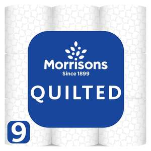 Morrisons Quilted Comfort Toilet Tissue 9 Roll (2 for £6)