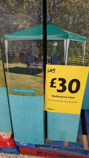 3m x 3m Pop up green Gazebo reduced to £30 instore morrisons