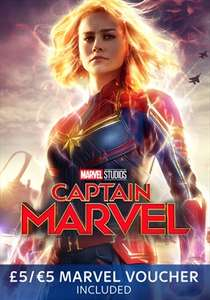 Sky Store - get £5/€5 marvel voucher with Captain Marvel buy and keep £15.99 (DVD) £17.99 (Blu Ray)