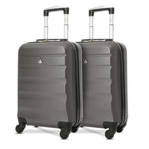 """2 Piece Aerolite 21"""" (55cm) ABS Hard Shell Cabin Hand Luggage Set with 4 Wheels £39.99 delivered @ Travel Luggage & Cabin Bags"""