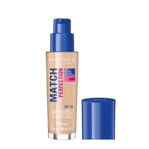 Rimmel London Match Perfection Light Coverage Liquid Foundation, 100 Ivory, 30ml, SPF 20 now £3.30 Add-on item at Amazon