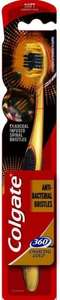 Colgate 360 Gold Charcoal Infused Spiral Bristles Soft Toothbrush @ Home Bargains - 99p