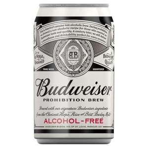 Budweiser Prohibition Alcohol Free 330Ml Can @ Home Bargains - 25p