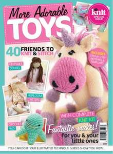 Homemaker More Adorable Toys kit, was £9.99 now 50p at WH Smith (12 piece yarn and needle kit)