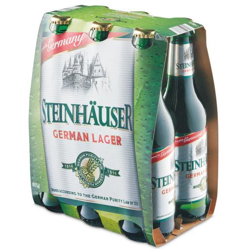 Steinhauser German Lager 6x330ml bottles £3.69 @ Aldi