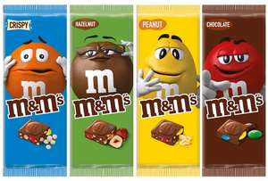 M&M's chocolate bars released 17th July in Tesco. 4 flavours 110g