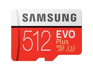 Samsung Memory 512 GB EVO Plus Micro SD Card with Adapter £87.76 @ Amazon - Sold by Memory-Direct