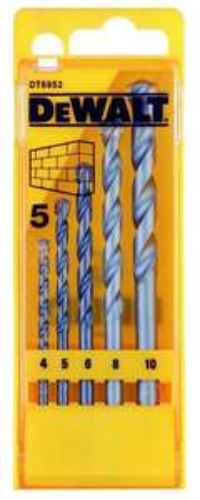 DeWalt DT6952QZ 4 0-10.0 mm Masonry Drill (Set of 5) - £3.99 Add on item @ Amazon