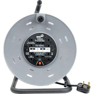 4 Socket 13A Heavy Duty Open Cable Reel 50m 240V £38.50 at Toolstation