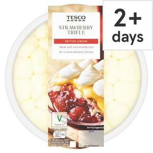 (From 10th July) Tesco Strawberry Trifle 600G £1.25 / Tesco Chocolate Profiteroles 18 Pack £2 @ Tesco