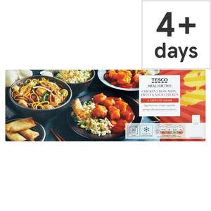 (From 10th July) Tesco Chicken Chow Mein & Sweet & Sour Chicken Meal Box 1.32Kg / Chinese Chicken & Blackbean Curry Box 1.27Kg  £6 @ Tesco
