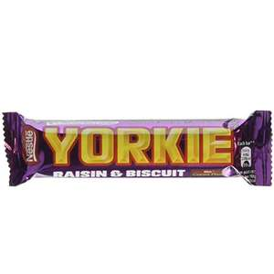 Yorkie Raisin & Biscuit Chocolate Bar 44 g (Pack of 24)  £8 (Prime) / £12.49 (non Prime) at Amazon