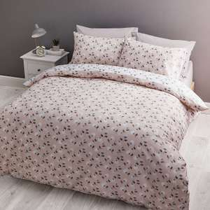 Cherrie Blush Reversible Duvet Cover and Pillowcase Set @ Dunelm Free Reserve & Collect £13.99