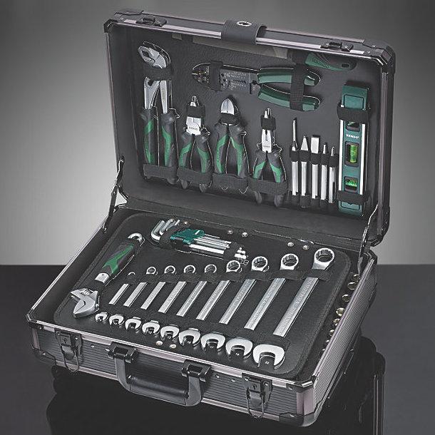 Orange Tool Kit & Aluminium Trolley Case 161 Piece Set @ Scewfix Free Delivery & Free C&C £79.99