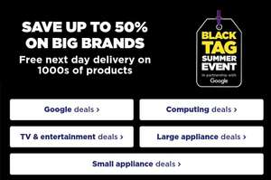 Currys Pc World Black Tag Summer Event upto 50% off