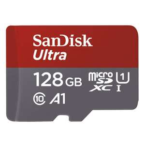 SanDisk Ultra 128GB microSDXC Memory Card + SD Adapter, A1 App Performance 100MB/s, Class 10, U1 for £14.99 Prime (+£4.49 NP) @ Amazon UK