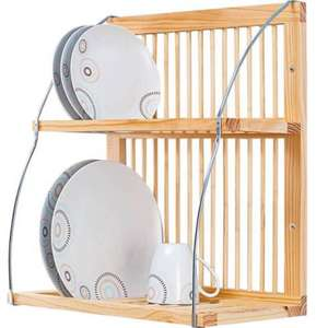 """""""Wood and Metal Plate Rack"""" down to £11.99 Free C&C @ Argos"""