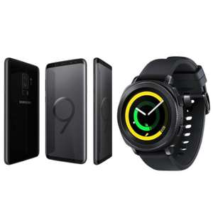 New Samsung Galaxy S9+ Mobile Phone 64GB & Gear Sport Smartwatch Midnight Black £489.99 @ ITZOO