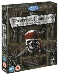 Pirates of the Caribbean 1-4 Blu Ray Used £5.21 delivered with code @ Music Magpie