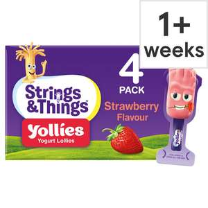 1/2 Price : Yollies 4X 25g Strawberry Yogurt Lollies , Now £1 @ Tesco